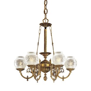 Metropolitan by Minka Vintage 6-Light Shaded Chandelier