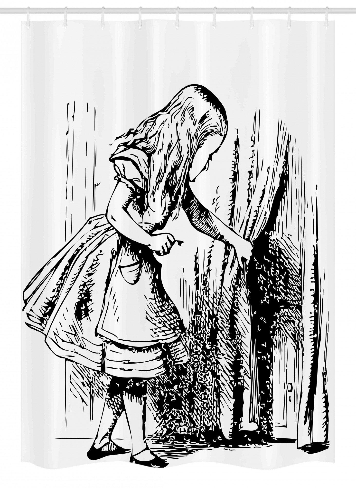 East Urban Home Alice In Wonderland Stall Shower Curtain Single Hooks Wayfair