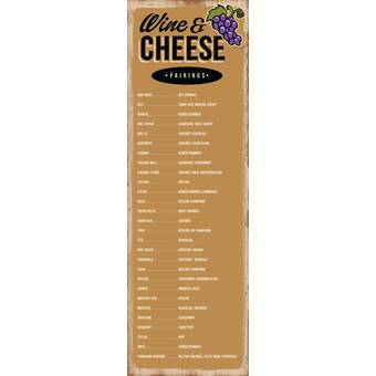 Winston Porter /'Wine and Cheese Pairings in Retro/' Textual Art Plaque