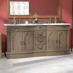 Blue Hills 72 Double Wood Bathroom Vanity Set by Fleur De Lis Living