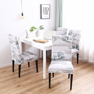 Elegant Box Cushion Dining Chair Slipcover (Set of 4)