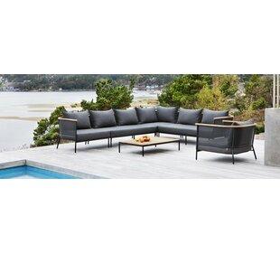 Riad Teak Patio Sectional with Cushion by OASIQ