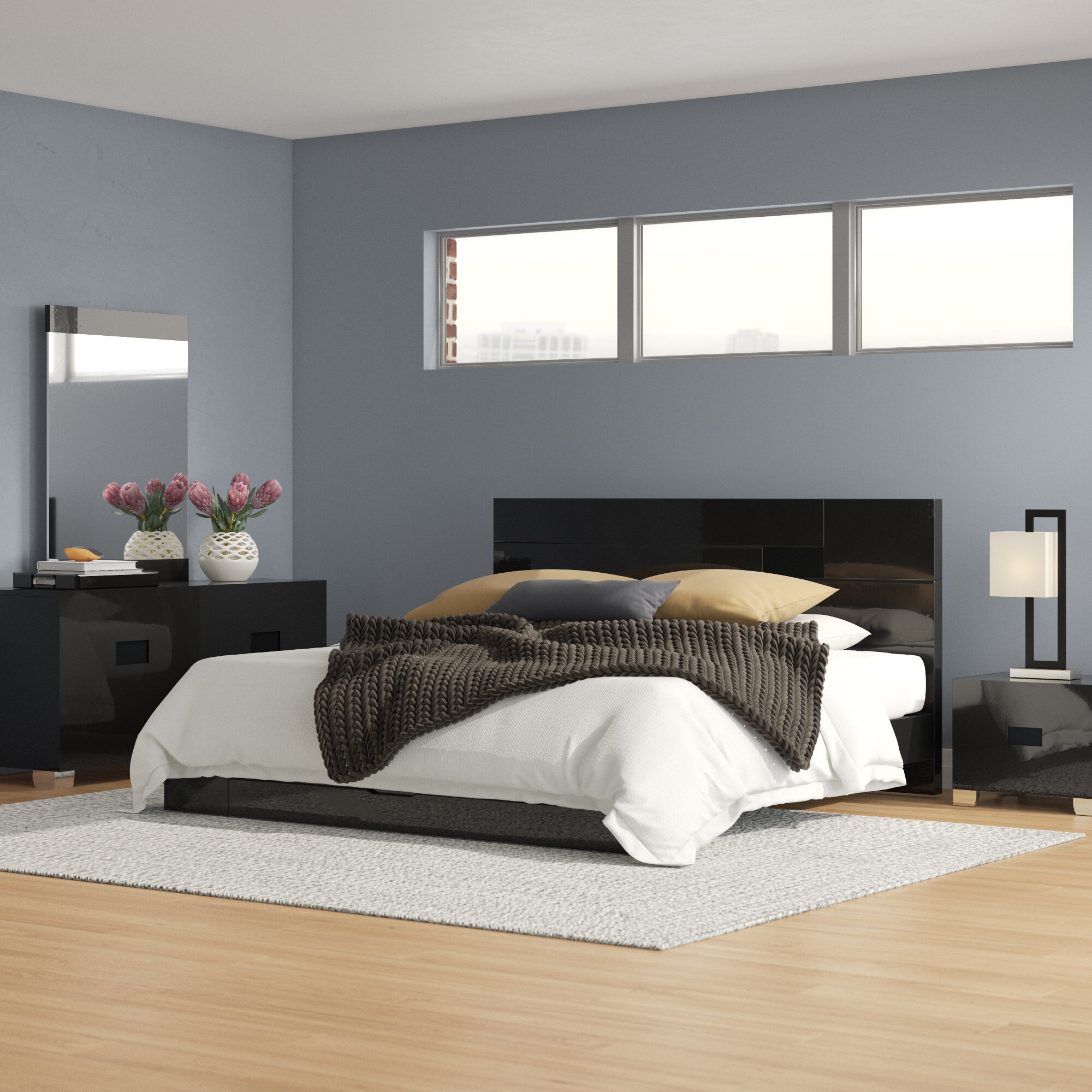Modern Contemporary Wood Bedroom Sets You Ll Love In 2021 Wayfair