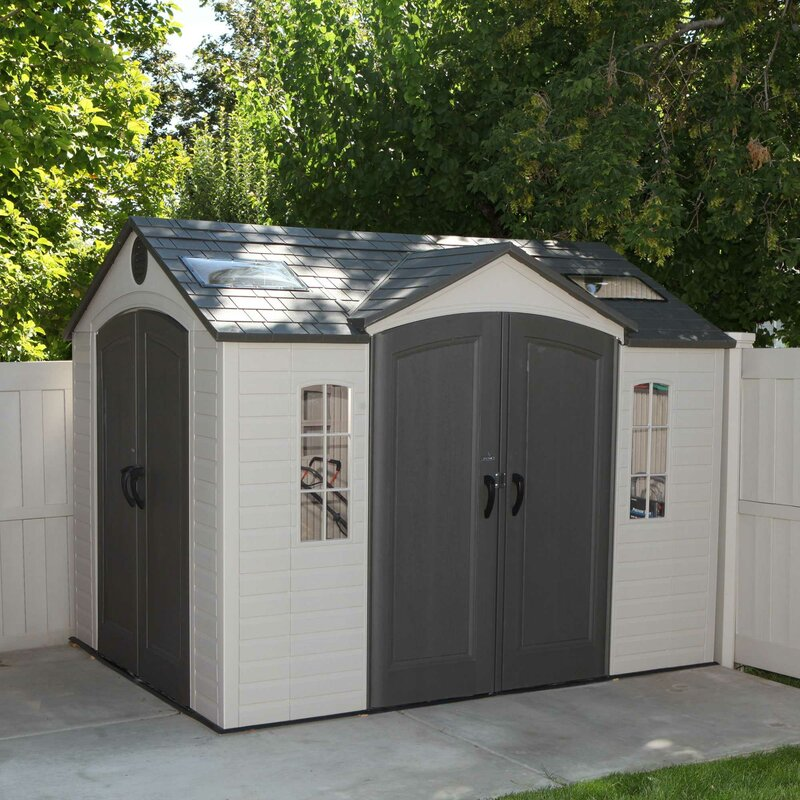 Lifetime 9 Ft. 7 In. W X 7 Ft. 7 In. D Steel Storage Shed U0026 Reviews ...