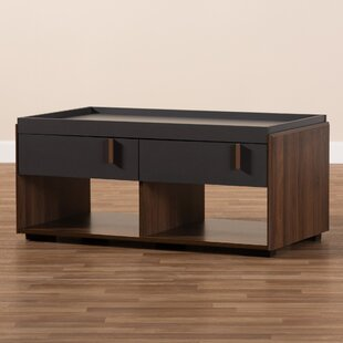 Askern Coffee Table with Tray Top and Storage