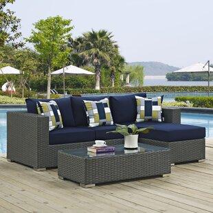 Tripp 3 Piece Sunbrella Sofa Set with Cushions by Brayden Studio