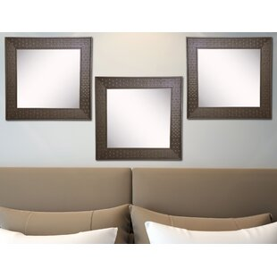 Reviews Hille Bricks Wall Mirror (Set of 3) By Winston Porter