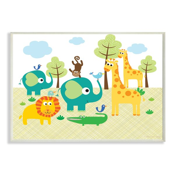 Jungle Animals Canvas Wall Art | Wayfair