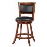 Abba Swivel Solid Wood 24.25 Counter Stool by Red Barrel Studio®