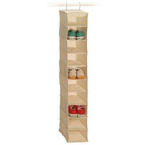Richards Homewares Natural Canvas Storage 10-Compartment Hanging Shoe Organizer