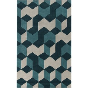 Compare Conroy Teal Blue/Teal Area Rug By Wrought Studio