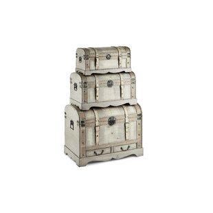Lavada 3 Piece Trunk Set By Bloomsbury Market