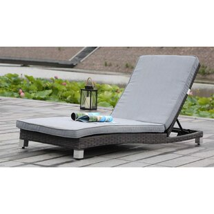 Vandue Corporation Modern Home Chaise Lounge with Cushion