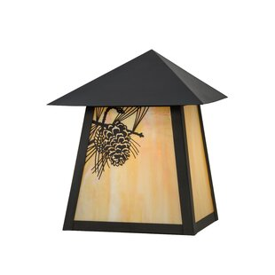 Affordable Wyndham Winter Pine 1-Light Outdoor Flush Mount By Loon Peak