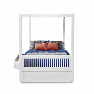 Rabon Full Canopy Bed with Drawers