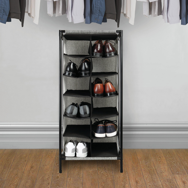 Wayfair Basics 12 Section 12 Pair Shoe Rack Reviews Wayfair