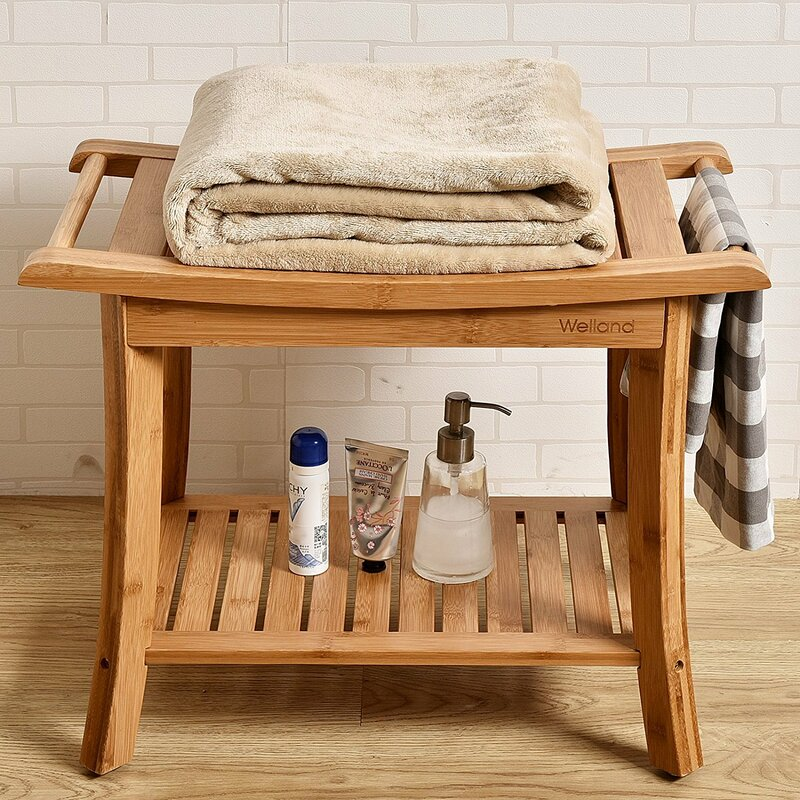 Welland Industries LLC Bamboo Shower Seat | Wayfair