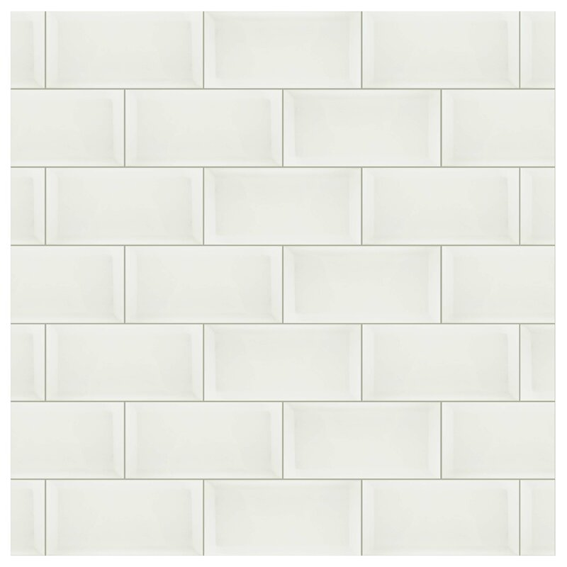 Elitetile Thira 4 X 8 Ceramic Subway Tile In Biselado Blanco