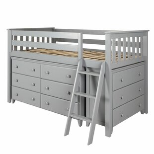 Ginny Twin Loft Bed with 2 Dresser by Harriet Bee