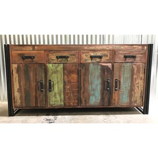Valeria Old Reclaimed Wood and Iron 4 Door 4 Drawer Sideboard