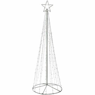 360cm Large Pop-Up Christmas Tree Lighted Display With Pre-Lit LED Image