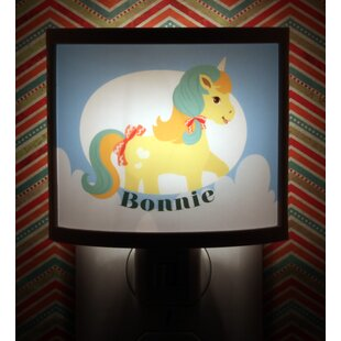 Common Rebels Yellow Pony Personalized Night Light