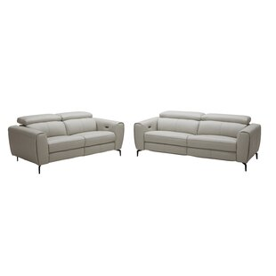Orren Ellis Nakale Leather Reclining Sofa