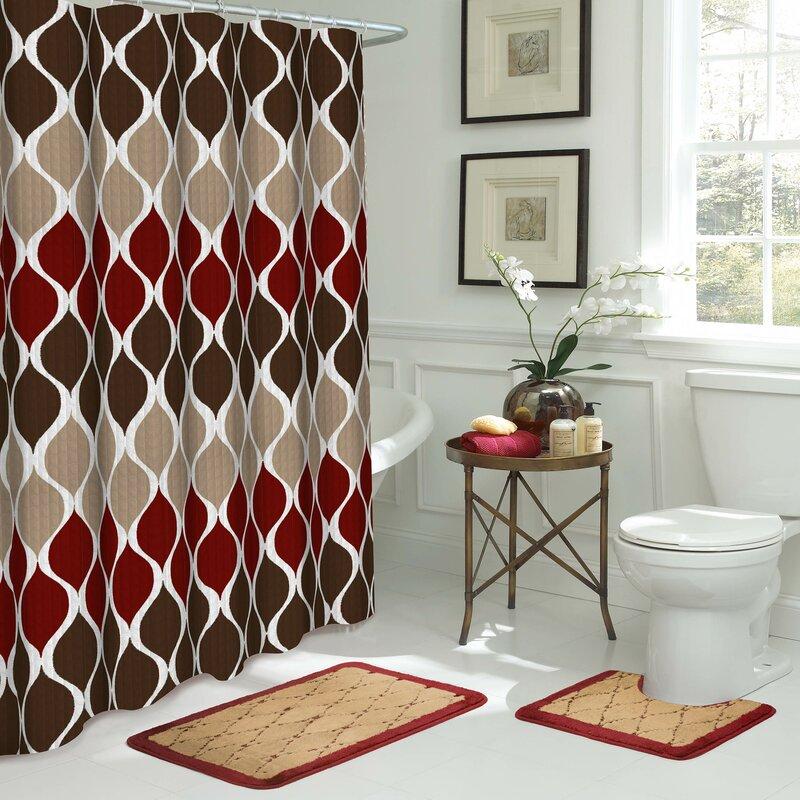 Bath Fusion Clarisse Shower Curtain Set & Reviews | Wayfair