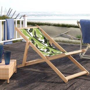 Shadai Cabana Reclining Beach Chair by Bayou Breeze