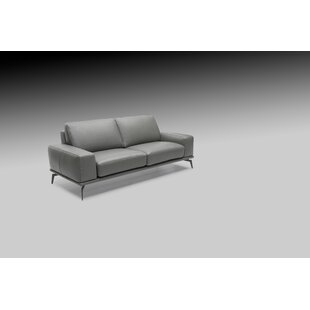 Micky Leather Loveseat by Brayden Studio