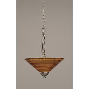 Fleur De Lis Living Blankenship 2-Light Bowl Pendant