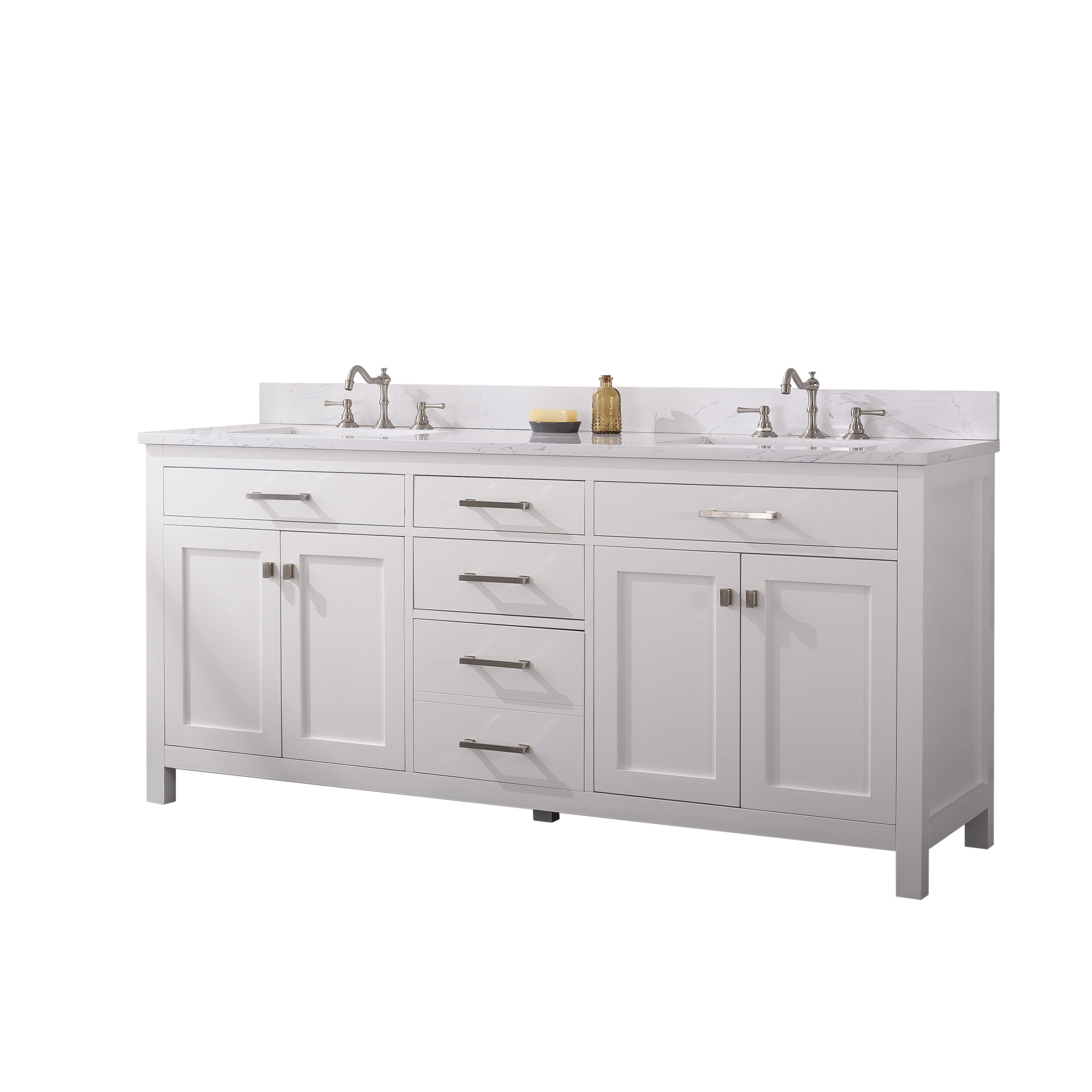 Atencio 72 Double Bathroom Vanity Set Reviews Joss Main