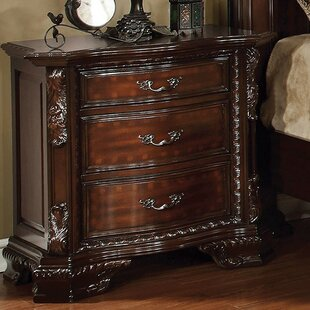 Clearance Fussell 3 Drawer Nightstand by Astoria Grand