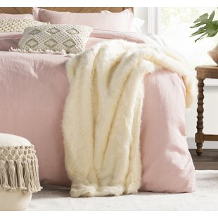 Thiele Luxury Tip Dye Faux Fur Throw