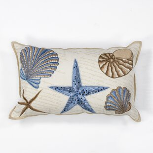 Maxwellton Seashells 100% Cotton Lumbar Pillow