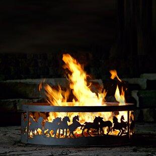 P & D Metal Works Mustang Steel Wood Burn..