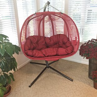 Pumpkin Double Swing Chair With Stand