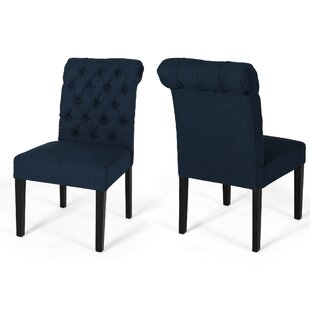 Perales Upholstered Dining Chair (Set of 2) Canora Grey