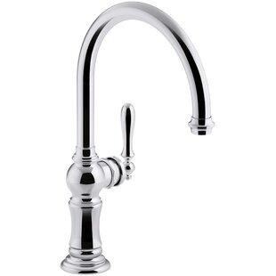 Kohler Artifacts Single-Hole Kitchen Faucet with Swing Spout, Arc Spout Design