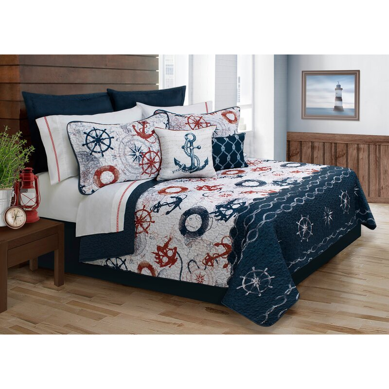 Beachcrest Home Astra 4 Piece Twin Quilt Set & Reviews | Wayfair : twin quilt sets - Adamdwight.com