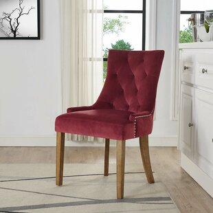 Lenoir Velvet Upholstered Dining Chair by House of Hampton New