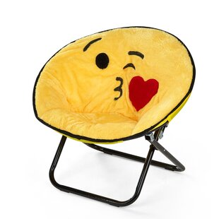Noga Emoji Kissy Face Kids Saucer Chair by Zoomie Kids