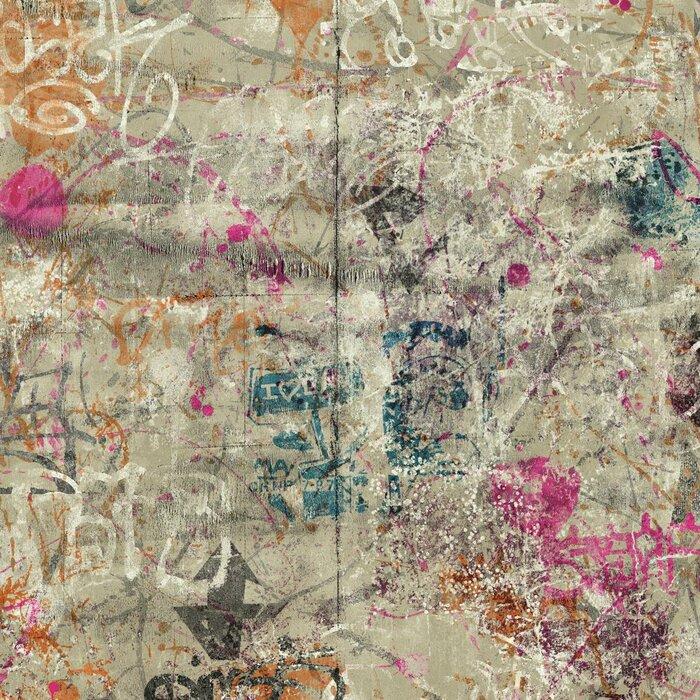 Urban Chic Street Art 27 X 27 Abstract Roll Wallpaper