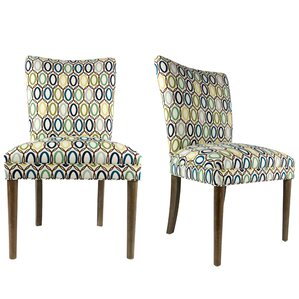 Alex Fan Back Upholstered Parsons Chai..