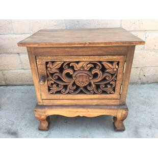 Lafountain Carved 1 Door Accent Cabinet by Bungalow Rose