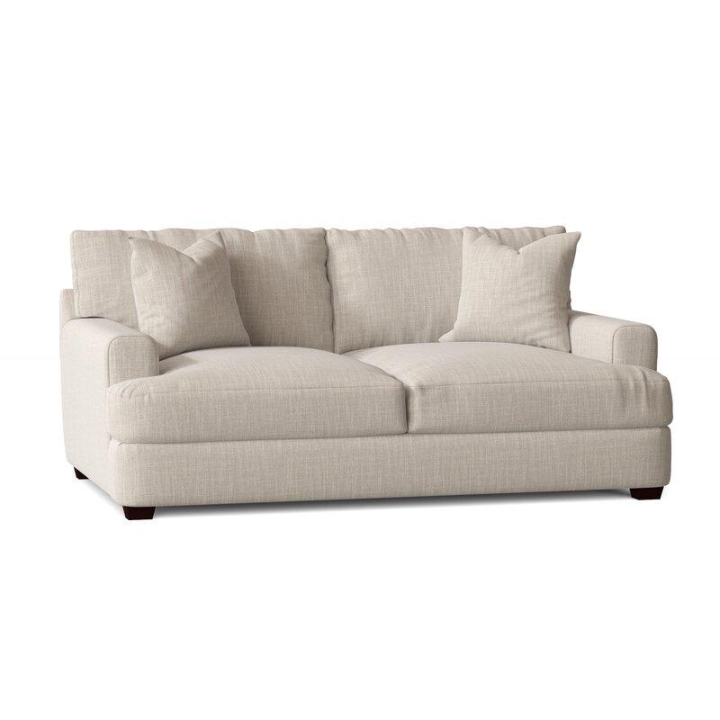 Wayfair Custom Upholstery Elisa 65 Recessed Arm Loveseat Reviews Wayfair