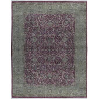 Bokara Rug Co Inc One Of A Kind Himalayan Hand Knotted Brown Gray 12 X 18 Wool Area Rug Wayfair