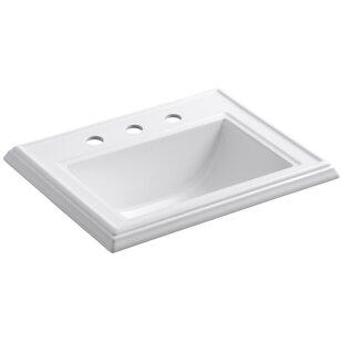 Memoirs® Ceramic Rectangular Drop-In Bathroom Sink with Overflow By Kohler