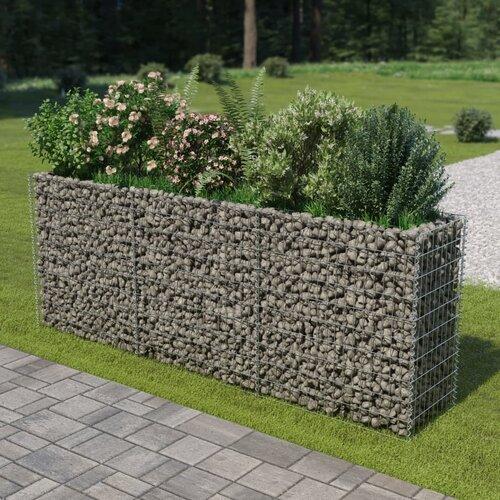 Gabion Metal Planter Box Freeport Park Size: 100cm H x 270cm