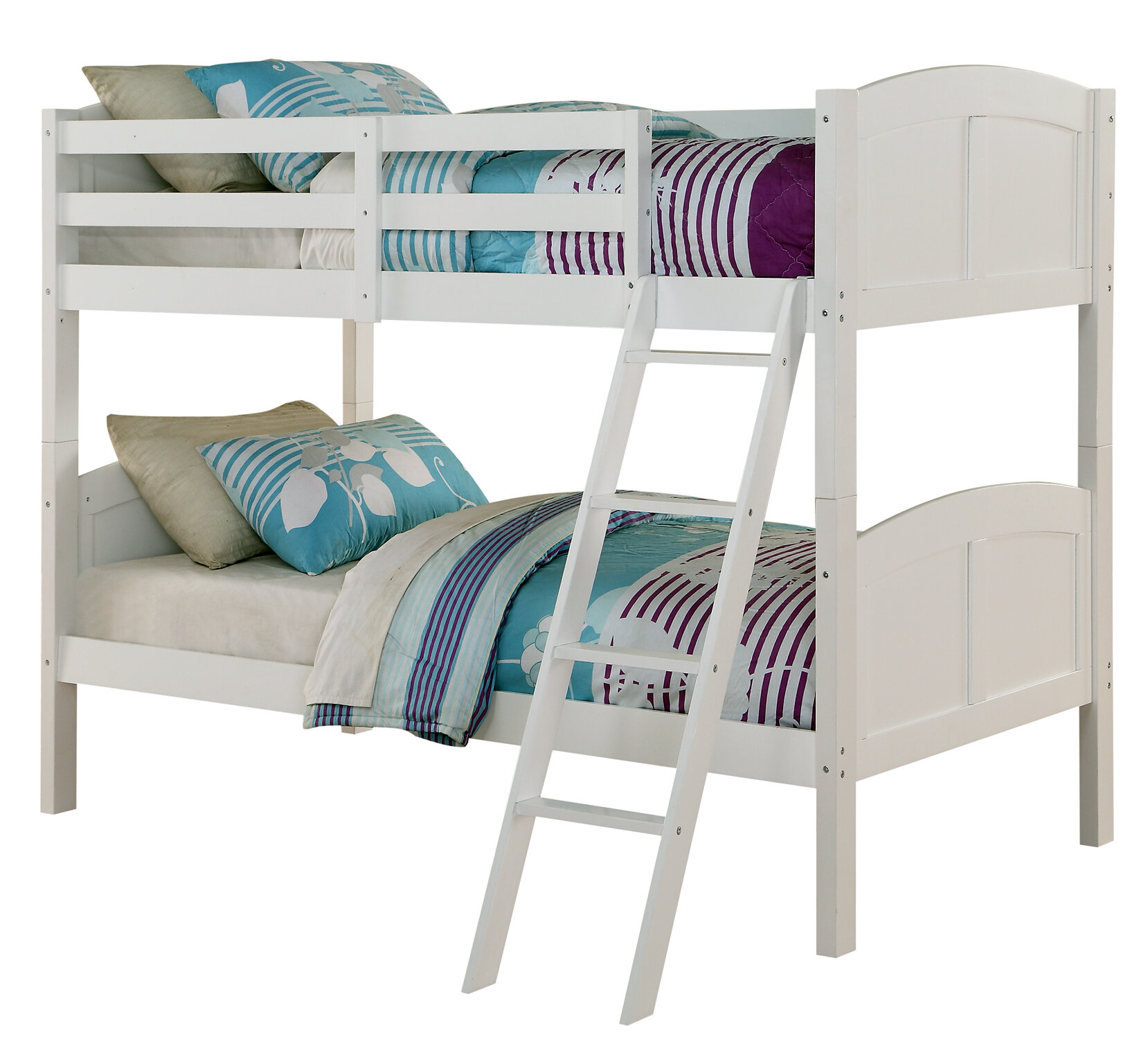 Angel Line Creston Twin Over Twin Bunk Bed U0026 Reviews | Wayfair